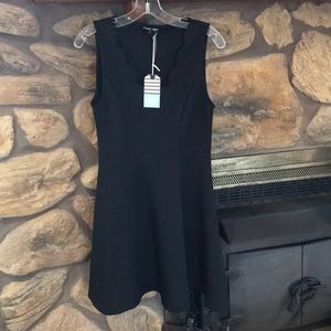 NWT Double Zero Sexy Black Dress Slimming!